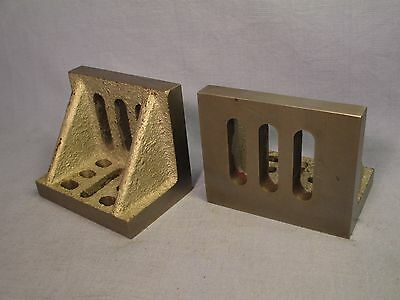 Matched Set of Slotted Angle Plates w/ Webs /    JE 177