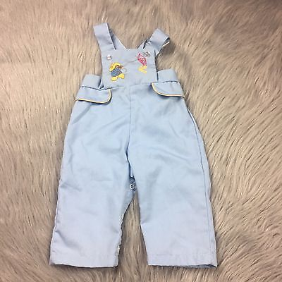 Vintage Thomas 70s Paddington Bear Embroidered Overalls Romper Baby Boy