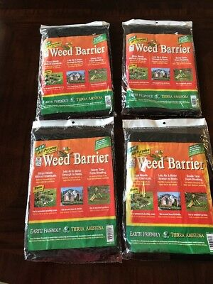 New All Purpose Weed Barrier Blocker 4 Ft X 8 Ft Black Garden Fabric ~ Lot
