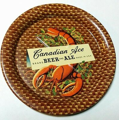 Canadian Ace Brewing Tin Lithograph Tip Tray - Lobster