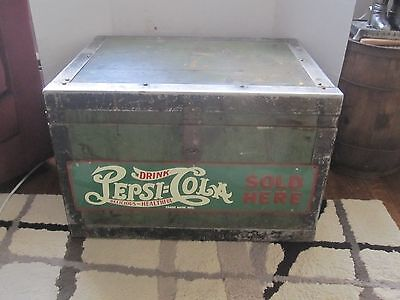 antique wood trunk/box,1940s-50s hand made,