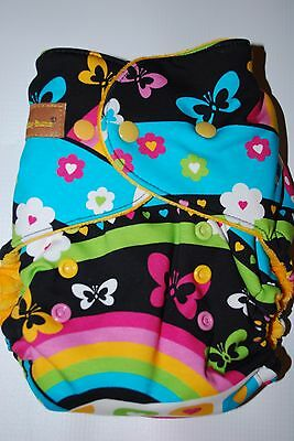 BubbyBums Hippy Days One Size Fitted Cloth Diaper