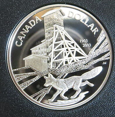 2003 Canada Proof Silver dollar 100th Anniversary of the Cobalt Discovery