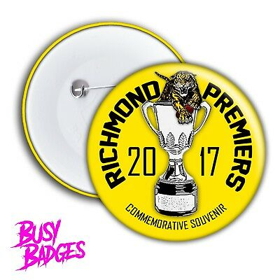 RICHMOND TIGERS - 2017 PREMIERS Badges & Magnets - Premiership Cup GRAND FINAL