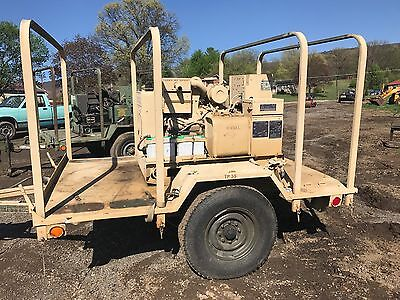 Diesel 5 Kw Generator Single Phase 3 Phase Trailer Mounted Genset Army Military