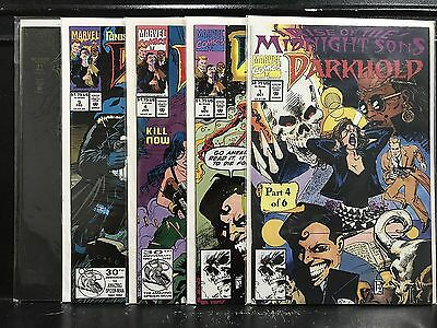 Lot of 5 Darkhold Pages from the Book of Sins #1 2 4 5 11 (1992 Marvel) ShipDeal