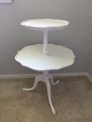 Shabby Chic Antique Two Tiered Table