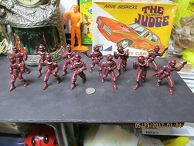 AJAX CAPTAIN SPACE FIGURES SPACEMEN AND SPACEWOMEN SET OF 12 HARD PLASTIC 1950s