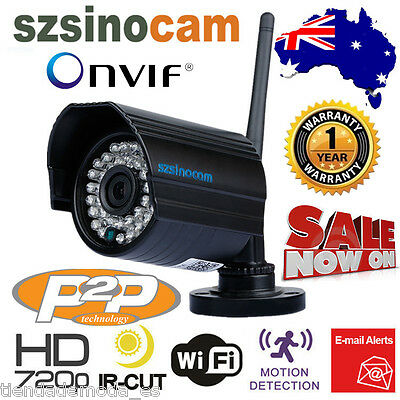 Outdoor Wireless WiFi 720P HD IP Network CCTV Security Camera Day Night Vision