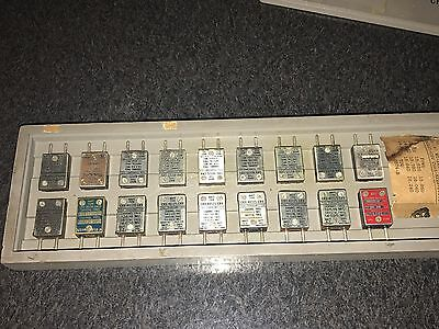 Set of (18) WWII US NAVY Frequency Crystal 40125-CRV TDQ Radio Transmitter Set