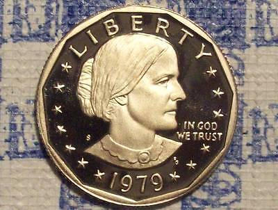 1979-S Type 2 Susan B Anthony Dollar-Bargain Priced-Scratches