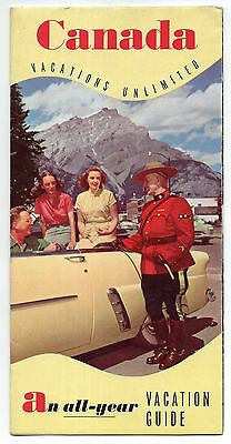 Canada All Year Vacation Guide, Vintage Travel Brochure, Dec