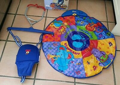 Jolly jumper with musical mat. Baby bouncing toy - missing spring connector.