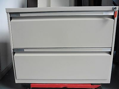 Office Steel 2 X Drawer Lateral Filing Cabinet Brisbane
