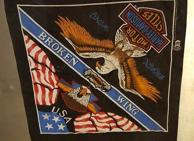 Vintage Harley Davidson Broken Wing Scarf Bandana Authentic