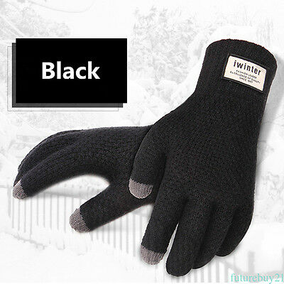 Warm Winter Knitted Gloves Men Touch Screen Gloves for Smart Phone Tablet AU