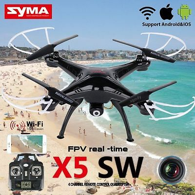 X5SW 6-Axis Gyro RC 2.4Ghz Quadcopter Drone UAV RTF UFO with HD Camera