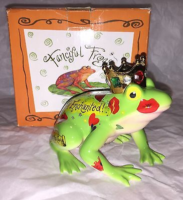 "Fanciful Frogs ""Frog Prince"" By Westland Giftware Porcelain Figurine In Box New"