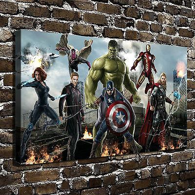 Marvel's The Avengers Paintings HD Print on Canvas Home Decor Wall Art Pictures
