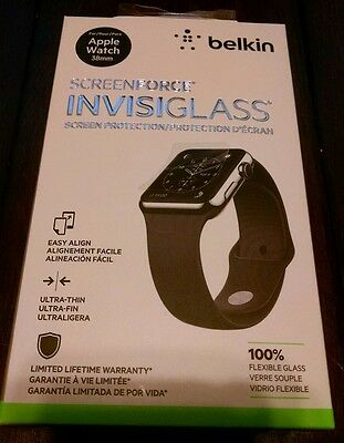 Belkin ScreenForge Invisiglass screen protector for Apple Watch 38mm