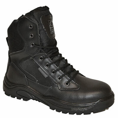 Mens Leather Steel Toe Cap Military Tactical Safety Boots Police Army Work Shoes
