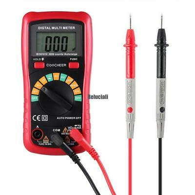 Top Digital Multimeter AC DC Spannung Widerstand LCD Display Test mit Batterie