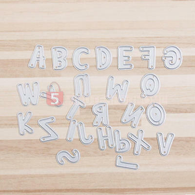 Useful Metal Cutting Dies Alphabet A-Z Letters Die Cutter Paper Craft Embossing