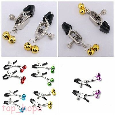 1Pair Breast Nipple Clamps With Bell Ring Adornment Adult For Couples Jewelry