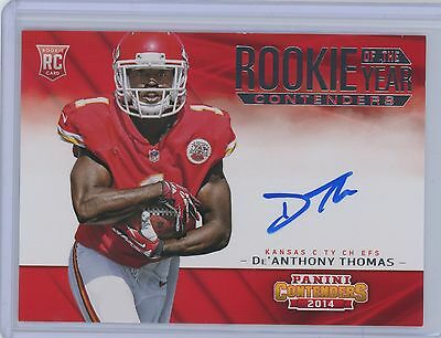 2014 CONTENDERS ROOKIE OF THE YEAR CONTENDERS De'ANTHONY THOMAS ON-CARD AUTO
