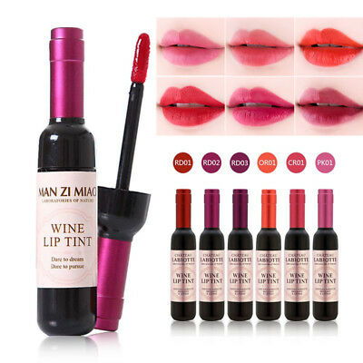 Waterproof Wine Bottle Lipstick Shaped Lip Tint Long Lasting Liquid Lipgloss