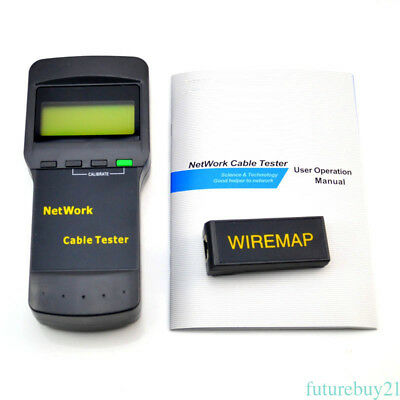 SC8108 CAT5 RJ45 Network LAN Length Cable Tester Meter with WIREMAP NEW