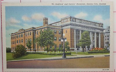 SOLDIERS SAILORS MEMORIAL KANSAS CITY KANSAS old postcard