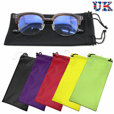 1pcs Reading Glasses Sunglasses Case Drawstring Soft Wallet Phone Pouch