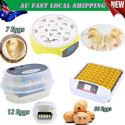 7/12/56 Egg Incubator Digital Turning Chicken Quail Duck Goose AU Post