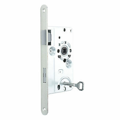 Bolt through Interior Door Class 1 Mortice Lock Latch - DIN R - Silver ZB6