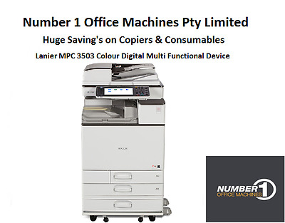 Ricoh/Lanier MPC 3503 Colour Copier,Network Print,Scan,Fax,email,PostScript