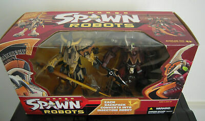 Manga SPAWN ROBOTS Exclusive 2 pack Action figure McFarlane Samurai + Manga