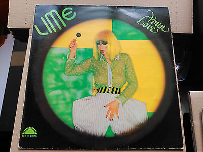 Lp Lime - Your Love - Polydor Spain 1982 Vg