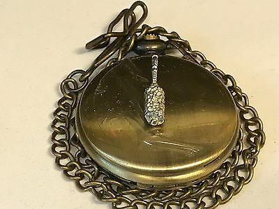 Brush TG170 On  Antique Brass Pocket Watch Quartz fob