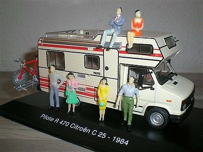 lot diorama 6 personnages camping car peugeot velo 1/43 dio piéce wrc rs gt