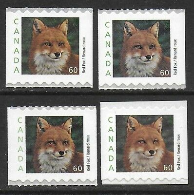 Canada 2000 Red Fox Coil #1879 Var. VF-NH 3 diff. Die-Cut + Single from booklet