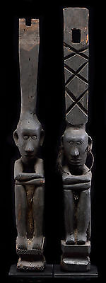 SUPERB MID 20TH CENTURY IFUGAO HEARTH FIGURES PAIR - architectural elements