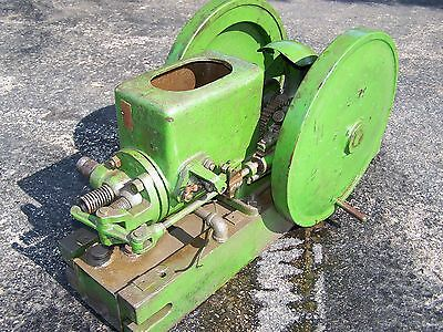 Old JOHN LAUSON 1 1/2hp Hit Miss Gas Engine Ignitor Fired Steam Magneto WOW!