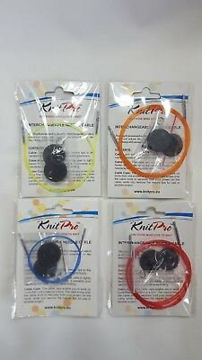 Knitpro Replacement Cable Multicoloured, includes end caps & key, sizes 40 - 100