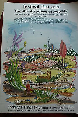 Affiche Originale Ancienne Festival Des Arts Wally F Findlay