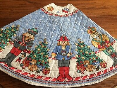 Nutcracker Tree Skirt Quilted Sequined and Sparkly Handmade NWOT