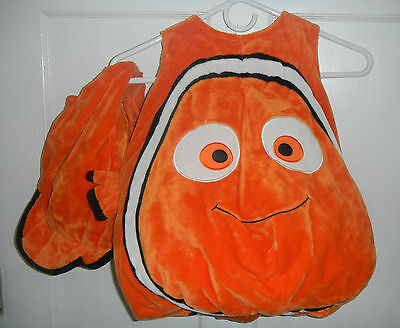Disney Store Nemo Plush Costume With Hat Size 24-36 Months