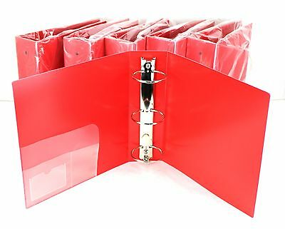 """3 Ring Binder Red Heavy Duty 3"""" Inch 700 Page Capacity Box of 6 2LKE4 PA*"""