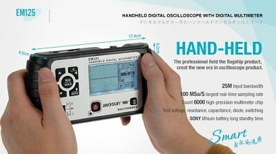Portable Oscilloscope Scopemeter 2in1 Digital Multimeter 25MHz Bandwidth 100M/s