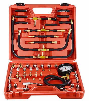 Auto Fuel Oil Injection Pump Flow System Pressure Gauge Test Testing Fault Kit